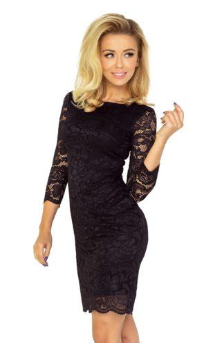 Sukienka mini z koronki czarna