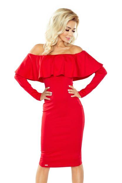 Sukienka hiszpanka z rękawem czerwona
