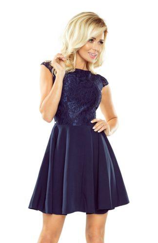 Sukienka z koronkową górą granatowa