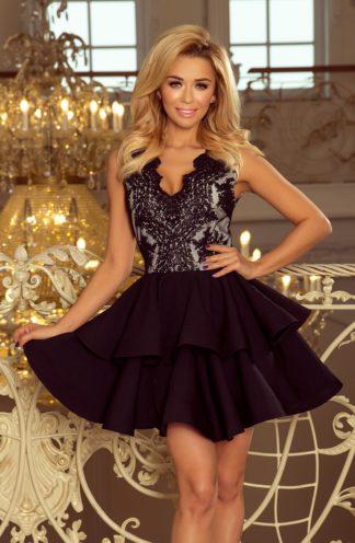 Sukienka mocno rozkloszowana czarna