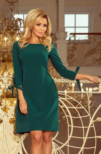 Sukienka z kokardkami zielona