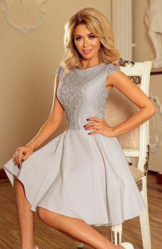 Sukienka z koronkową górą szary