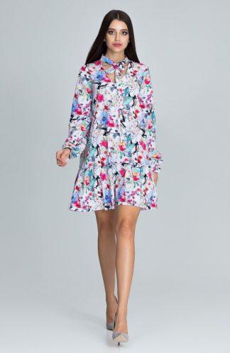 Sukienka mini wielokolorowa