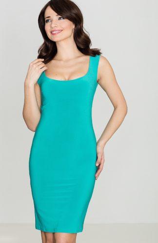 Bandażowa sukienka turkusowa