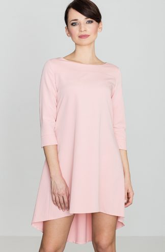 Sukienkae z dłuższym tyłem różowa