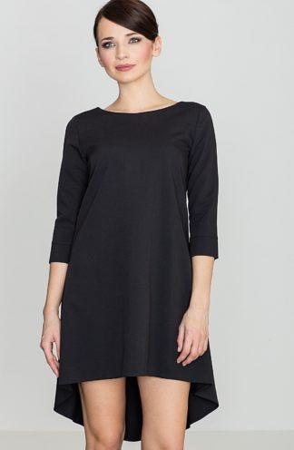 Sukienka z dłuższym tyłem czarna