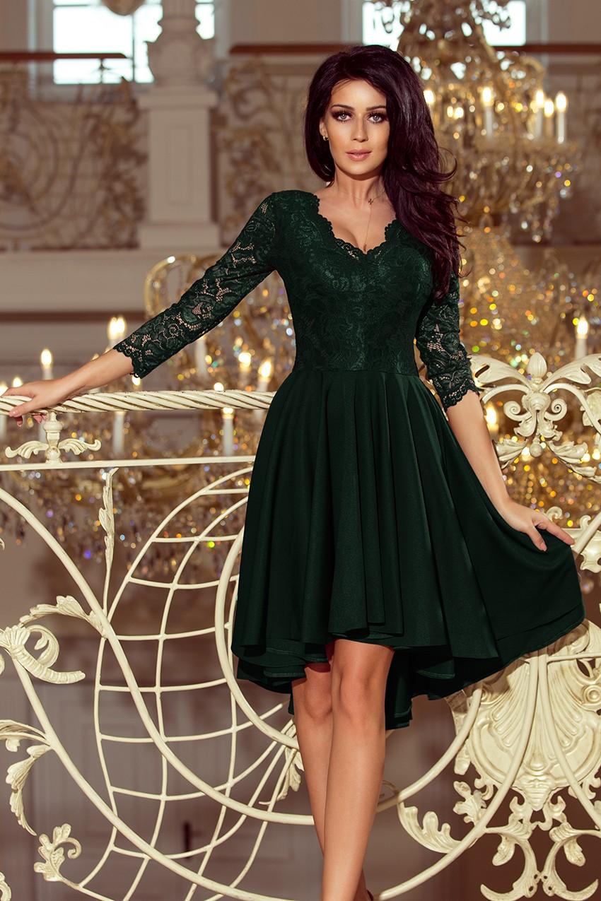 e79e4d9223 Sukienka na wesele plus size z koronkową górą zielona · 13Sukienek.pl