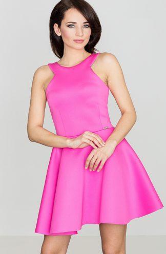 Rozkloszowana sukienka różowa