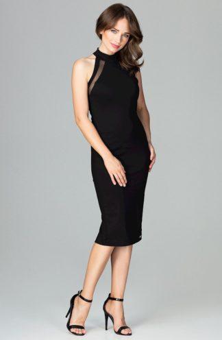 Sukienka midi bez rękawów czarna