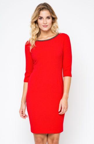 Sukienka do pracy czerwona