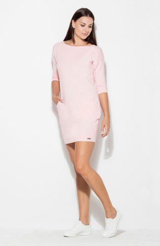 Prosta sportowa sukienka różowa