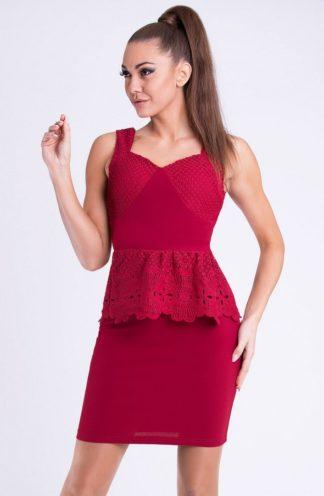 Sukienka z koronkową baskinką