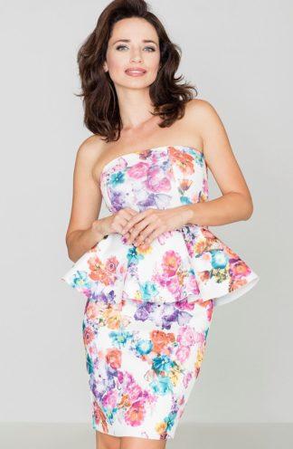 Sukienka z baskinką w kwiaty