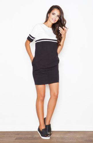 Prosta sukienka sportowa czarna