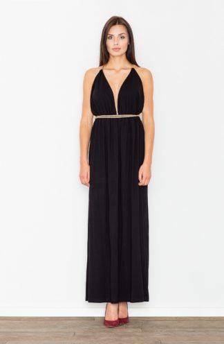 Sukienka z głębokim dekoltem czarna