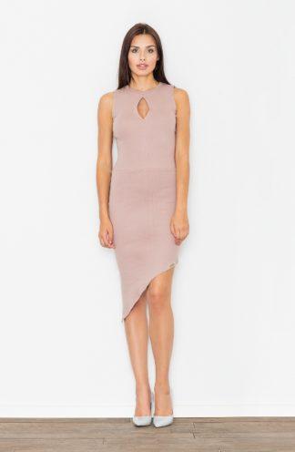 Sukienka asymetryczna różowa