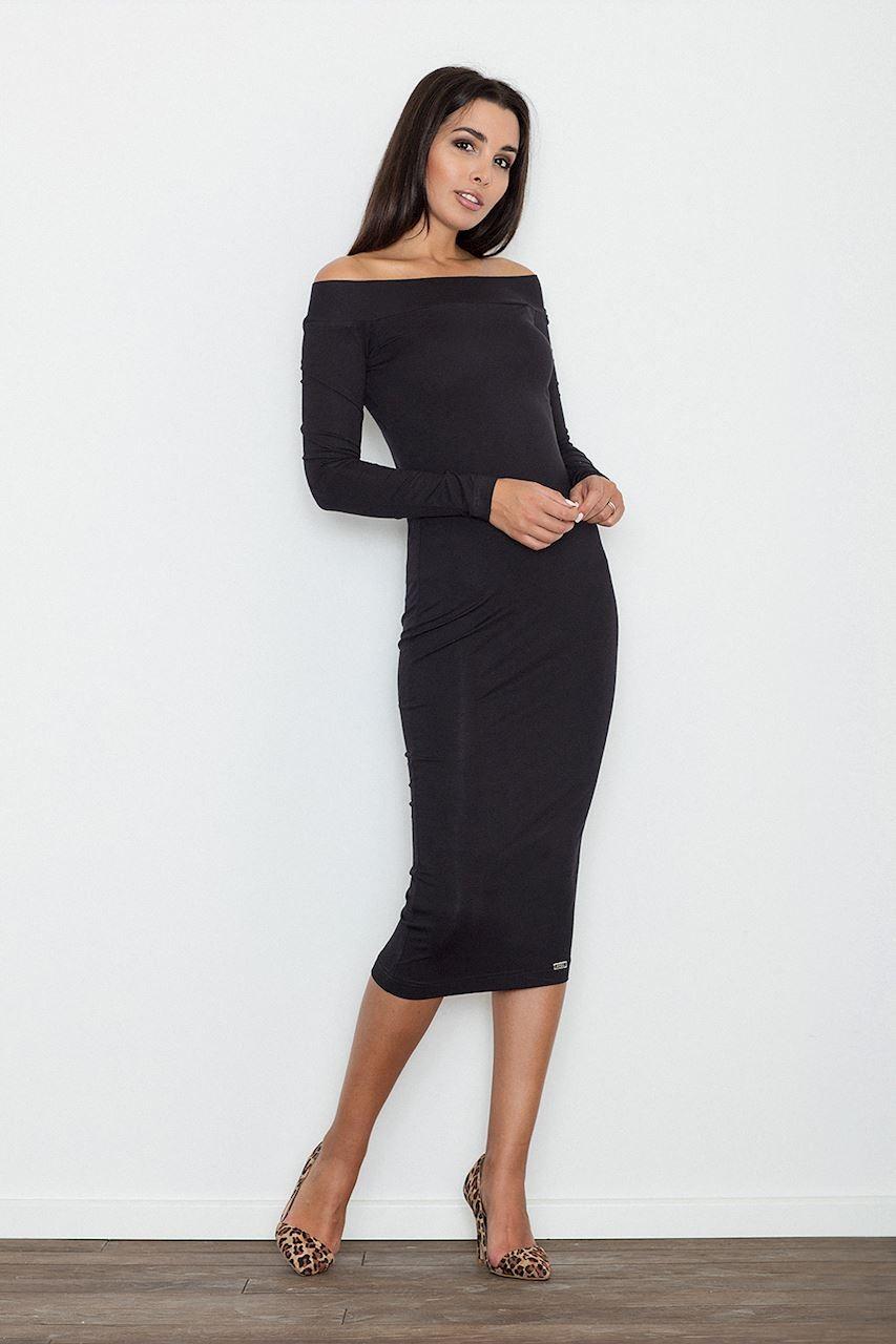 Sukienka ołówkowa midi czarna