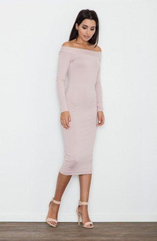Sukienka ołówkowa midi różowa