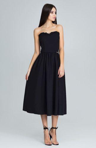 Sukienka z gorsetową górą czarna