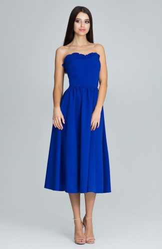 Sukienka z gorsetową górą niebieska