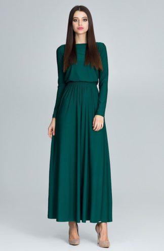 Prosta długa sukienka zielona