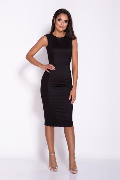 Sukienka mocno dopasowana czarna