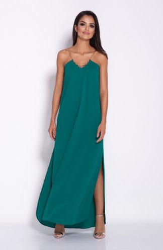 Sukienka maxi na łańcuszku zielona