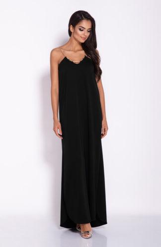 Sukienka maxi na łańcuszku czarna