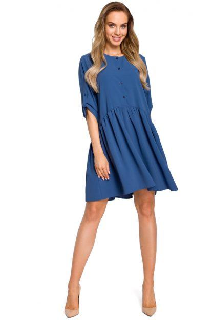 Sukienka do pracy na lato niebieska