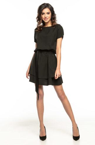 Sukienka z podwójną spódnicą czarna