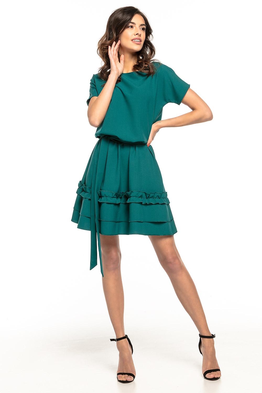 cd78ca442d Sukienka mini wiązana w talii zielona · 13Sukienek.pl