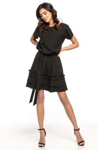 Sukienka mini wiązana czarna