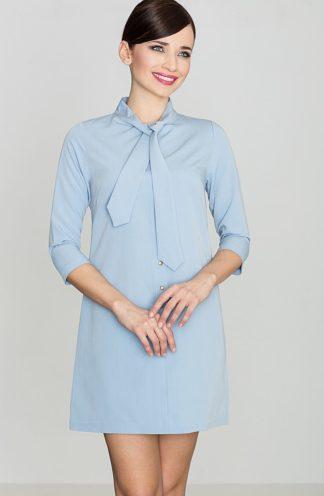 Sukienka wiązana przy szyi niebieska