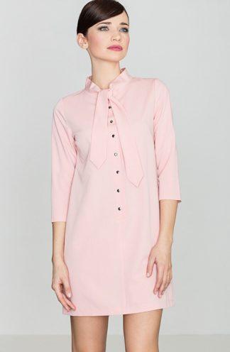 Sukienka wiązana przy szyi różowa