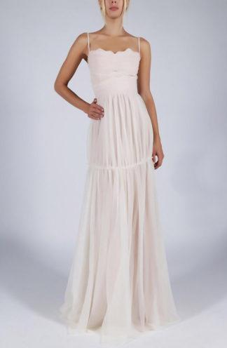 Szyfonowa sukienka na ramiączkach biała