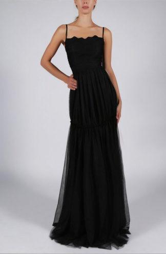 Szyfonowa sukienka na ramiączkach czarna