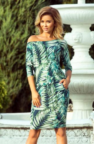 Sportowa sukienka z wiązaniem liście