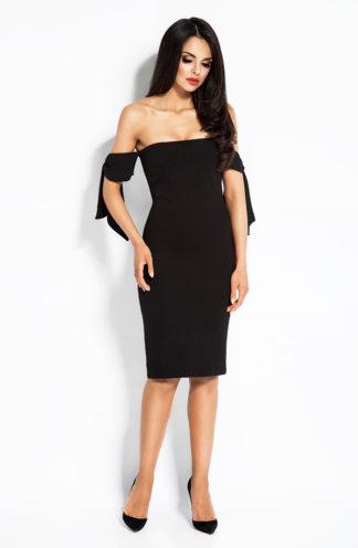 Dopasowana sukienka hiszpanka czarna