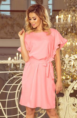 Sukienka biznesowa na lato róż