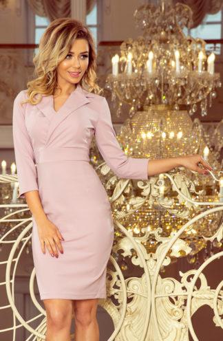 Sukienka biznesowa z dekoltem lila