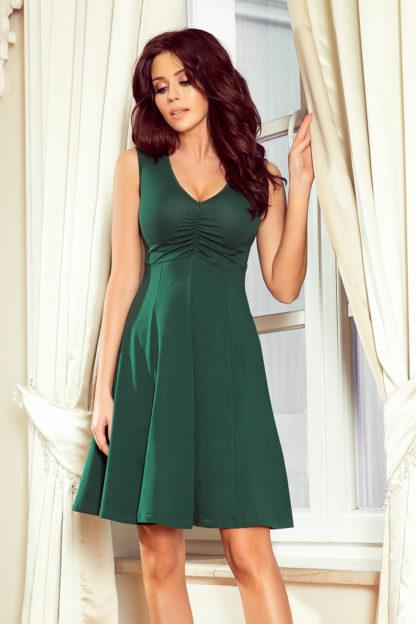 Sukienka z głębokim dekoltem zieleń