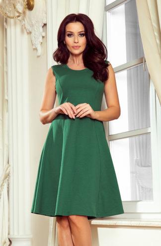 Trapezowa sukienka bez rękawów zieleń