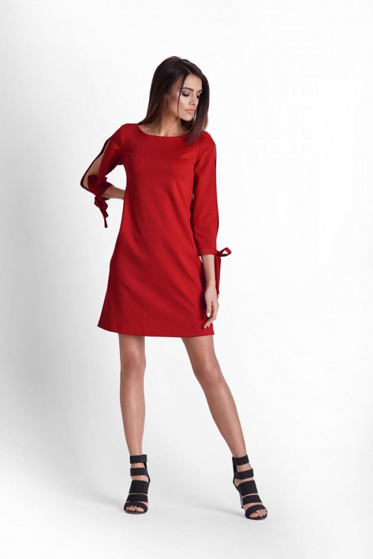 4a4d395170 Sukienka z wyciętymi rękawami czerwona · 13Sukienek.pl