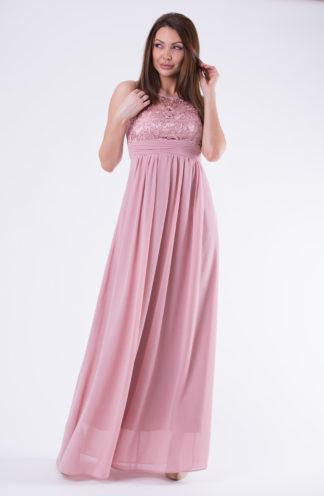 d56895f92393d1 Oglądasz: Sukienka szyfonowa maxi z koronkową górą różowa 249.00zł