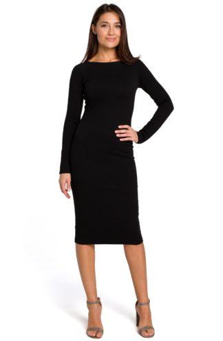 Dopasowana sukienka biznesowa czarna