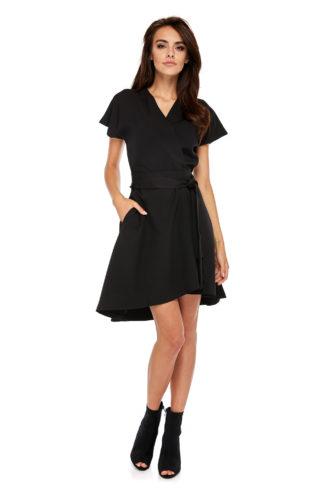 Asymetryczna sukienka do pracy czarna
