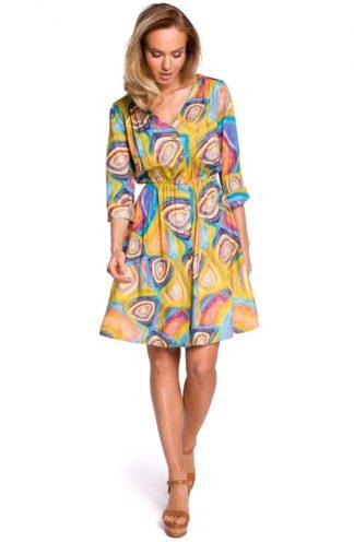 Sukienka boho w kolorowe wzory