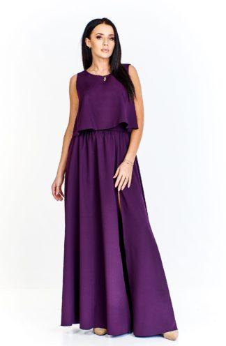 Długa suknia z dodatkową górą