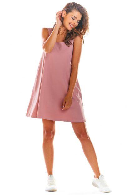Sukienka na ramiączkach różowa