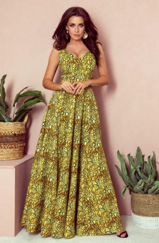 Sługa suknia złota w czarne wzory